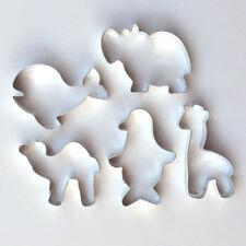 Ausstecher Ausstechform 5er Set Giraffe, Nilpferd, Kamel, Pinguin, Wal-Fisch