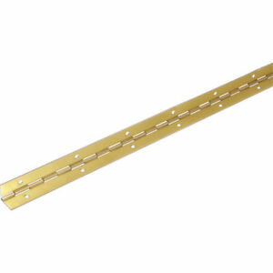 NEW Contionous Piano hinge Electro Brass, 1m long 32mm open width, cabinet, door