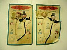 Wedding Box Ties, Bride And Groom On Card, Never Used 1950S