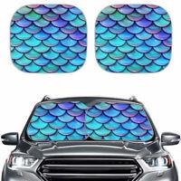 Mermaid Cool Car Windshield Sun Shades Windscreen Foldable Sun UV Protection 2PC