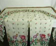 """Vtg  3 Sets TULIP Kitchen Curtain Set Tier and Swag Set  58"""" X 38"""" GUC!"""
