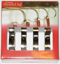 The Original Mantle Clip set of 4 Silver Color Metal New in Box