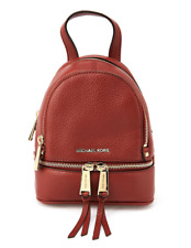 MICHAEL KORS Rhea Zip Studded Leather Backpack for Women with Free Gift