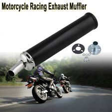 280mm Black Racing Universal Motorcycle  ATV Muffler Exhaust Pipe 2-Stroke