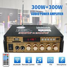 HiFi Verstärker bluetooth Amplifier FM Radiotuner USB SD MP3 Player 600 Watt DE