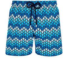 Vilebrequin Moorea Swim Short Herringbones Turtles Navy Blue Bathing Suit
