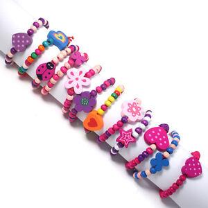 12 x GIRLS PRINCESS PARTY BAG FILLERS kids Bracelets Gifts favours Jewellery 12B