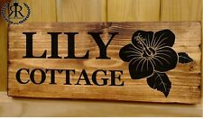 Lilly House Door Number Plaque Gate Wall Sign Name Plate Lilly, Lillie Lilium