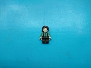 Lego Lord of Rings Minifigure Hobbit Frodo Baggins Sand Green Shirt 9469 30210!