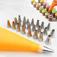 16 Pcs/Set Silicone  Piping Cream Pastry Bag +14PCS Stainless Steel Nozzle