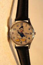 Mens Vintage Disney Donald Duck Watch (Disney Parks)-(Silver-tone)-VHTF-New