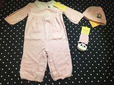Gymboree Little Panda velour romper one piece hat socks NWT 6-12  lot set