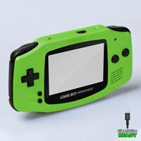 Game Boy Advance Shell Case Pearl Green IPS USB-C Replacement GBA RetroSix ABS