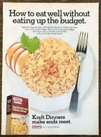 1976 Kraft Dinners Print Ad Egg Noodle With Chicken Make Ends Meet
