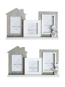 Multi Photo Frame 3 Triple Picture Frames Wooden Home Decor Cat Dog Lover Gift