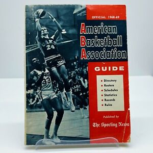Sporting News ABA American Basketball Association Official Guide 1968-1969 Mikan