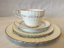 "4 Piece Paragon Set Fine Bone China England ""Morning Rose"" teacup saucer plate"