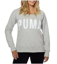 Puma Ladies' Long Sleeve Crew (X-Large, Light Gray)