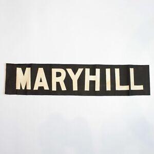 Maryhill Tram bus blind destination linen vintage original printed Glasgow