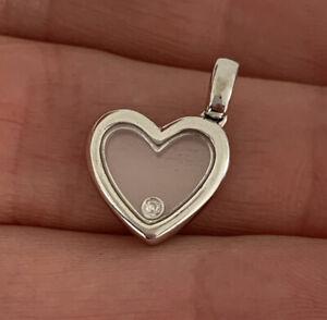 18ct Gold Bouncing Diamond Heart Pendant, 18k 750