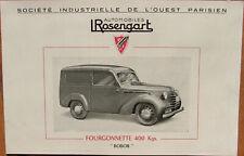 P 58 : ROSENGART : 1 DOCUMENT PUB : 4 PAGES : FORMAT : 23,5 X 15 CM . BON ETAT .