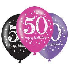 Amscan – 9900878 Celebración de 11 pulgadas 50th feliz Cumpleaños Globo