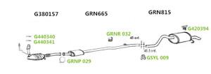 Exhaust Rear Back Box Silencer + Tail Pipe Rn815D - GRN815 RN815