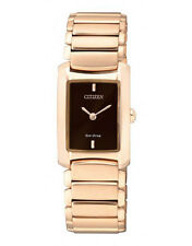 Citizen Eg2976-57w Eco-drive Ladies Solar Rose Gold Watch