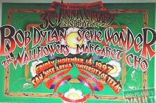 BOB DYLAN POSTER Stevie Wonder WALLFLOWERS Cho ORIG Bill Graham BGS5 RANDY TUTEN