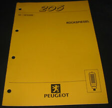 Werkstatthandbuch Peugeot 206 Rückspiegel Außenspiegel Stand April 1999