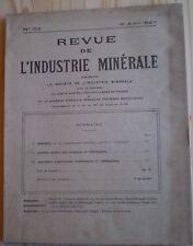 REVUE DE L'INDUSTRIE MINÉRALE N° 152 (1927) MINE / COMPRESSEURS CENTRIFUGES