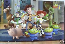 """DISNEY/PIXAR """"TOY STORY 3"""" POSTER - Woody, Buzz & Characters Walking On Rug"""