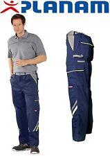 Planam Visline Arbeitskleidung Bundhose Marinegelbzink 110 2423110
