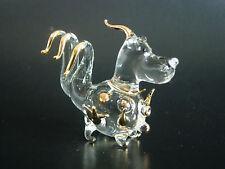DINO the DINOSAUR, Glass Ornament, Jurassic Park, Gold Painted Glass Animal