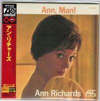 Sealed! ANN RICHARDS Ann, Man! JAPAN Mini-LP CD w/Obi WPCR-25181 24bit