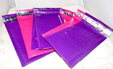 40 Purple and Hot pink 4x8 Bubble Mailers, 20 of each Shipping Mailing Envelopes