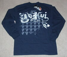 DA HUI Hawaii Hawaiian Tattoo Long Sleeve Navy Shirt sz L NEW Surf / Surfing