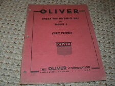 Oliver White Tractor Model 3 Corn Picker Operators Manual
