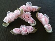 Small Rose Garland Satin/organza Pk5 Petal Pink Craft Embellishment