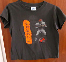 CLEVELAND BROWNS youth XL kids 1980s T shirt Bernie Kosar dayglo #19 Salem sport