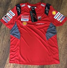 2020 Alpinestars Ducati MotoGP Team Issue Camiseta Medio.