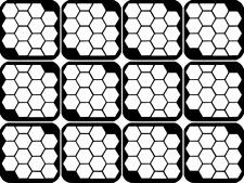 Honeycomb Nail Art Vinyl Stencil Guide Sticker Manicure Hollow Template