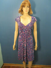 16 purple and blue stretchy lined bust sundress dress by DRESSBARN