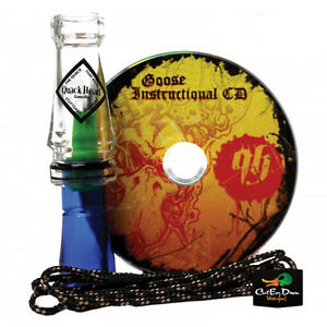 NEW RNT QUACKHEAD GOOZILLA CANADA GOOSE CALL LANYARD INSTRUCTIONAL CD COMBO