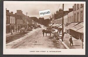 Postcard Mitchelstown in County Cork Ireland shops in Lower Cork Street early RP