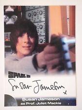 SPACE 1999 AUTOGRAPH CARD Susan Jameson as Prof Juliet Mackie SJ2