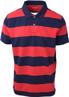 Timberland Men's Red & Navy Striped S/S Polo Shirt (Retail $55) S09