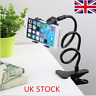 UK Flexible 360  Cell Phone Holder Lazy Bed Desktop support Mount Stand Rack