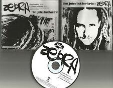 The JOHN BUTLER TRIO Zebra w/ RARE Radio EDIT PROMO DJ CD Single 2004 USA
