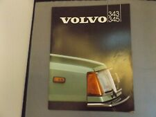 1982 VOLVO 343 345 BROCHURE - 24 pages